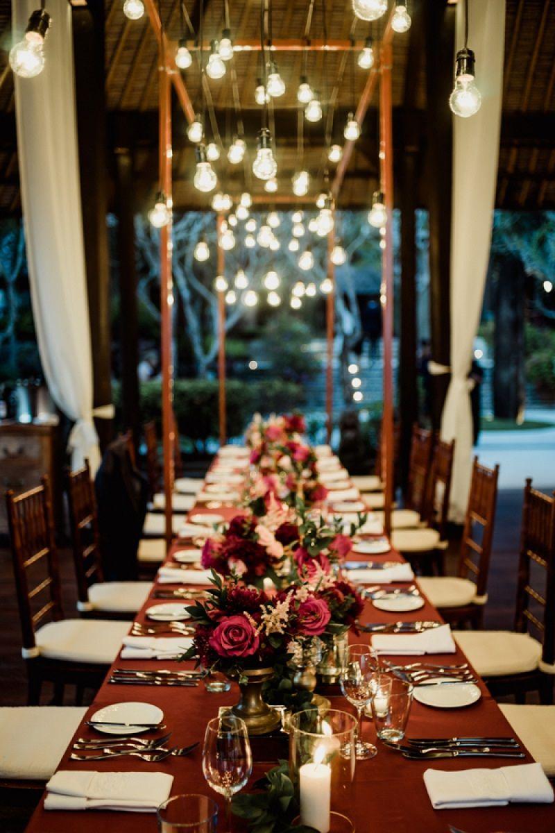 Decoraç u00e3o Simples de Mesa de Casamento -> Decoração Simples Para Mesa De Restaurante