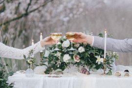 Decoração de casamento mesa simples