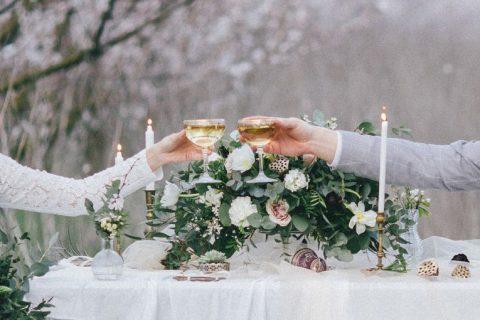 Decoração de Mesa de Casamento Simples