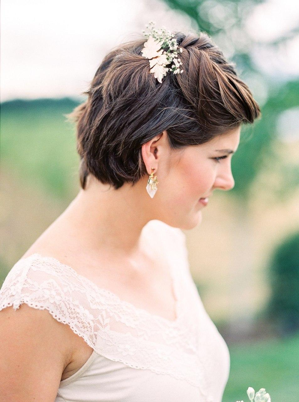 penteados para cabelos curtos para casamento