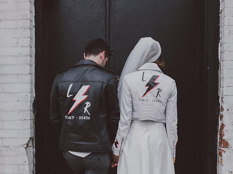 Jaquetas personalizadas frase nas costas