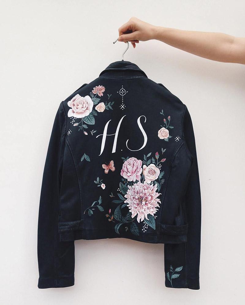 Jaquetas personalizadas letra caligráfica
