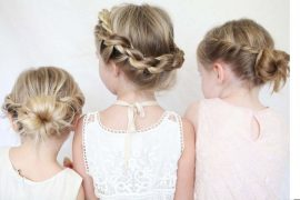 Penteado para daminhas, tranças, coques e arranjos