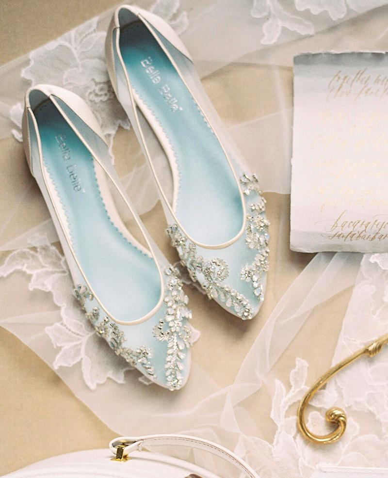 c936dfc0562 Sapatilha para noiva palmilha azul