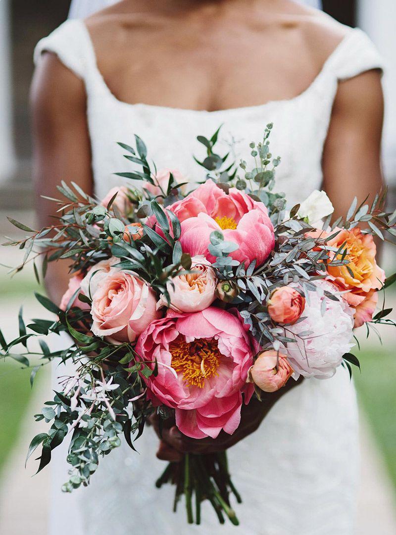 Buquê de peônias 40 inspirações em tons de rosa