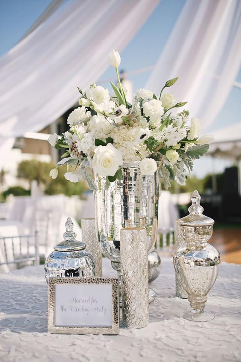 prata e cromado no casamento