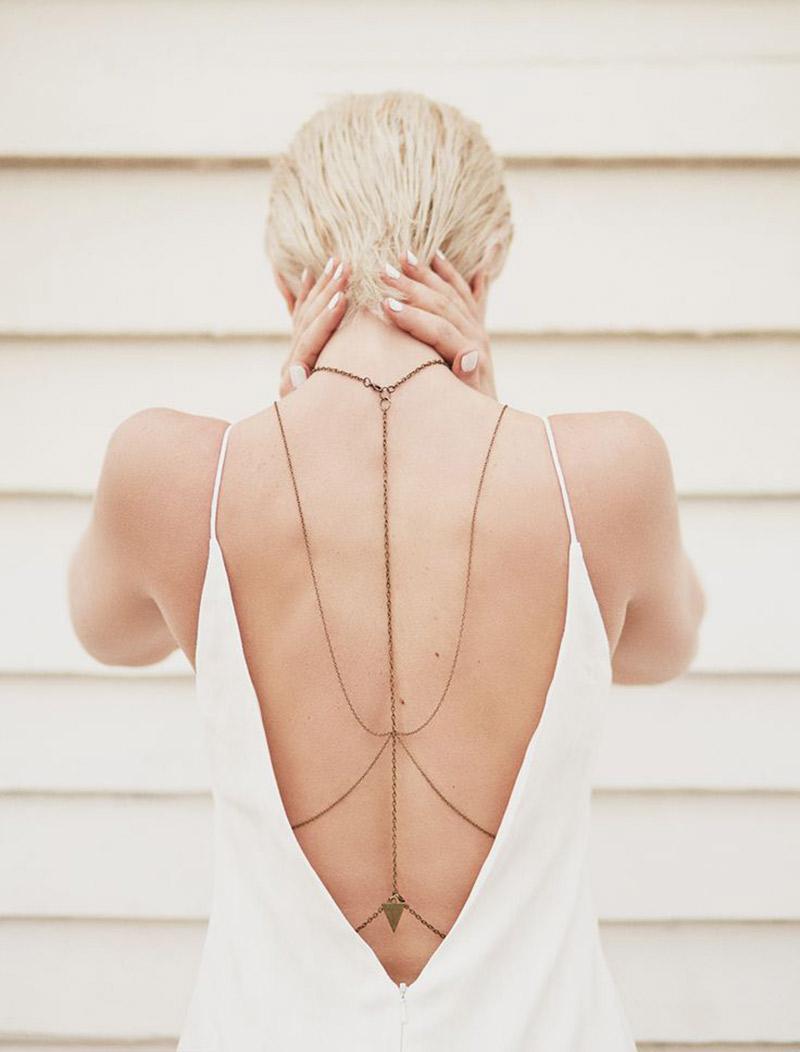 Colar invertido para noiva como usar nas costas inteira