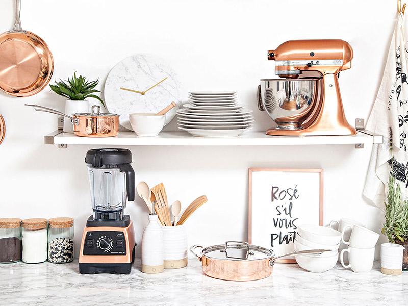 Como usar o Rose Gold para decorar cozinha