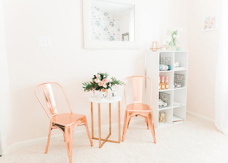 Como usar o Rosé Gold para decorar móveis