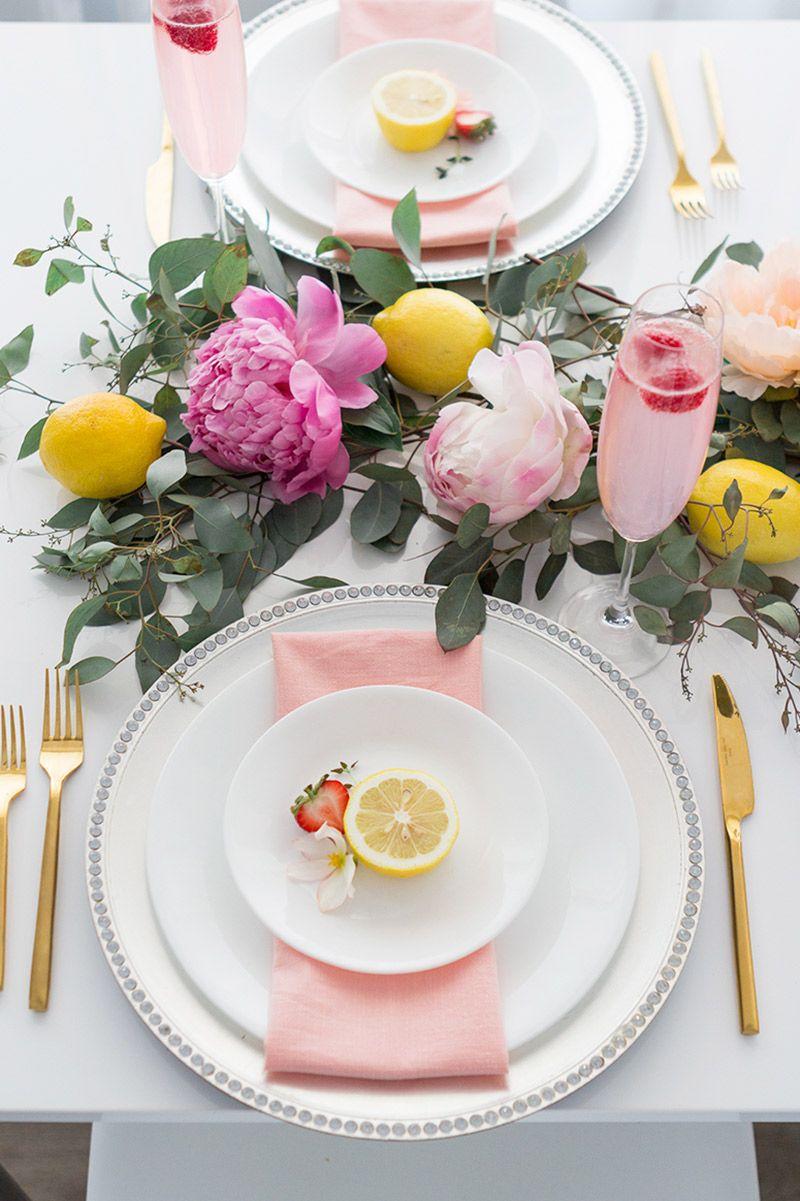 Decoração de casamento ao ar livre mesa com frutas