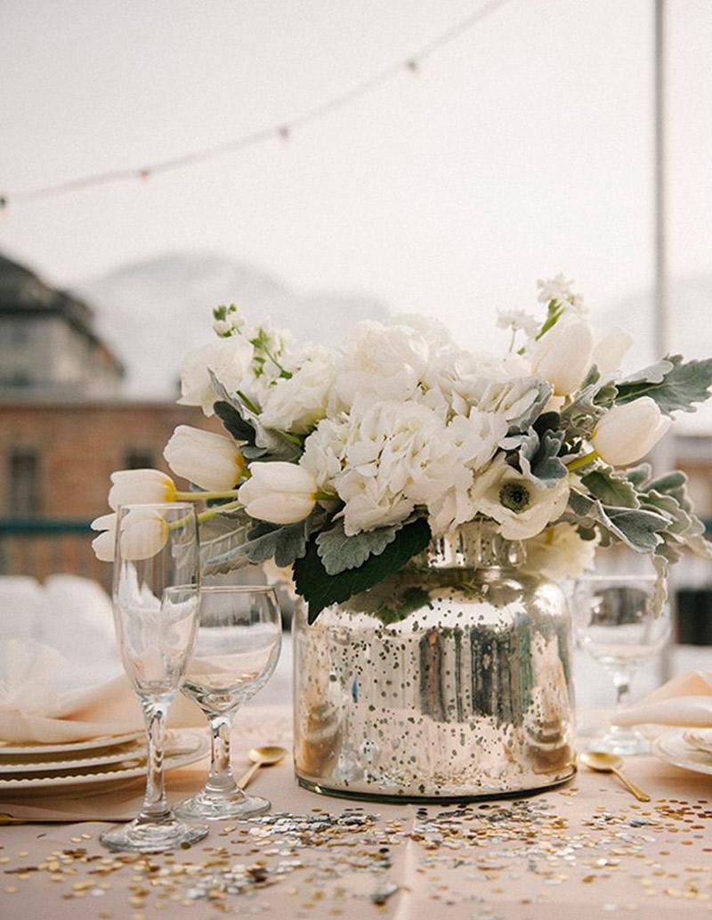 Decoração prata e cromado no casamento como usar