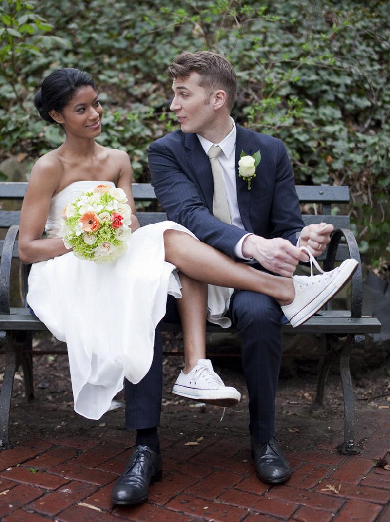 Inspirações de tênis para noivas usarem no casamento