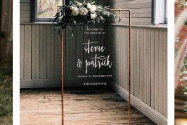Murais de acrílico tendência para decoração de casamento