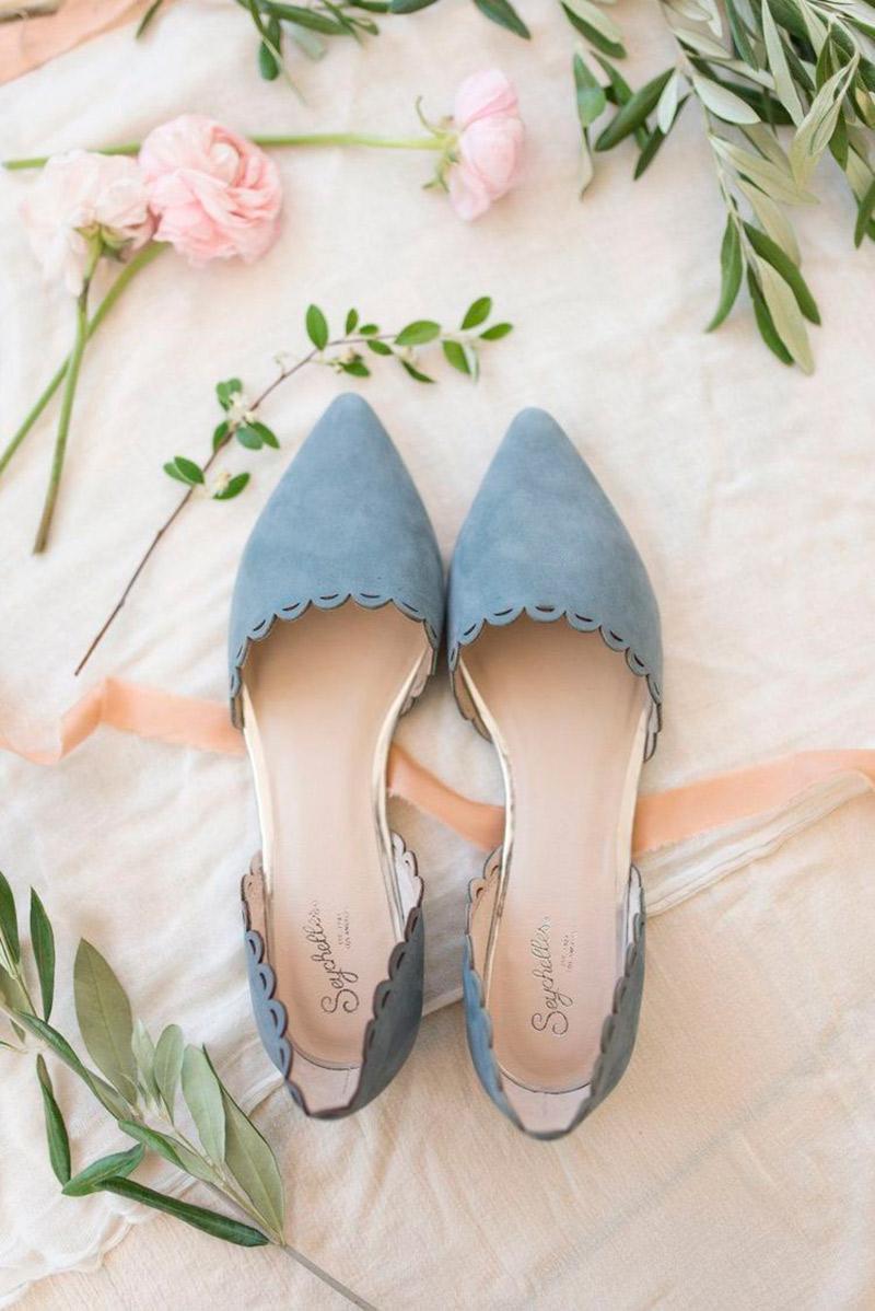 7fa2e8f9ee Sapato sem salto para noiva como para arrasar azul