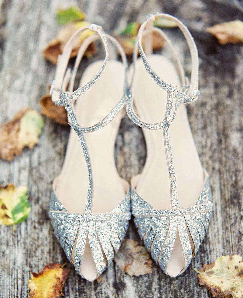 29c348c816 Sapato sem salto para noiva como para arrasar com brilho