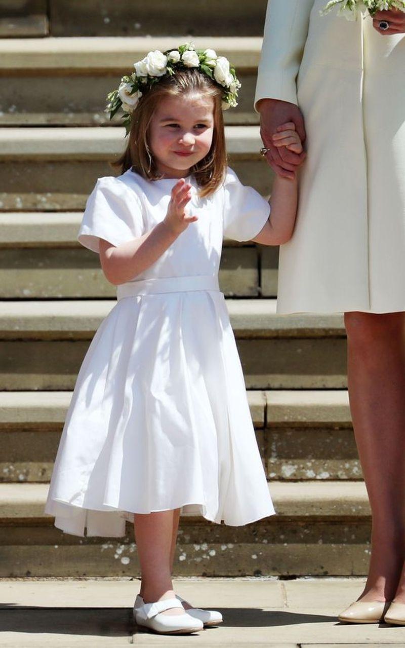 Coroa de daminha usada pela princesa Charlotte