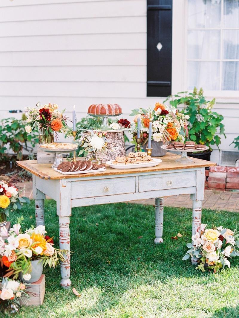 Mesa de sobremesas no casamento