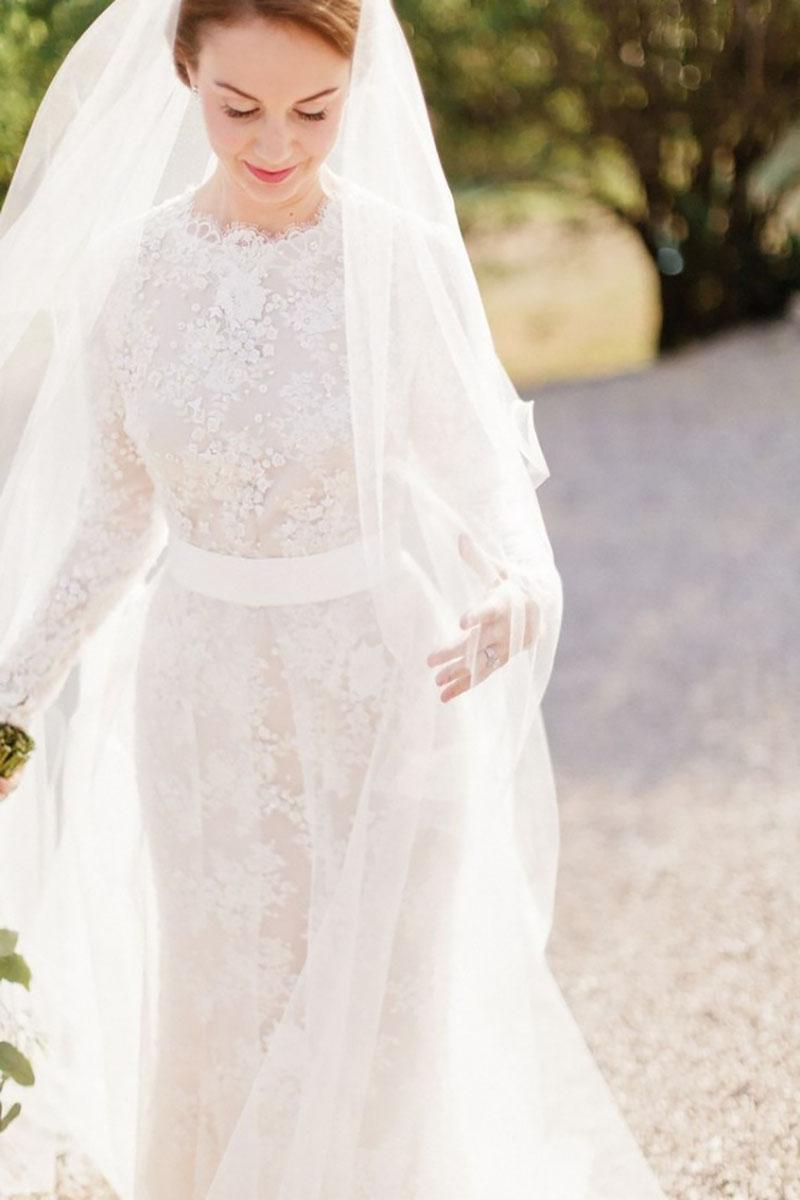 966781514f Vestido de noiva com manga  escolha o modelo ideal