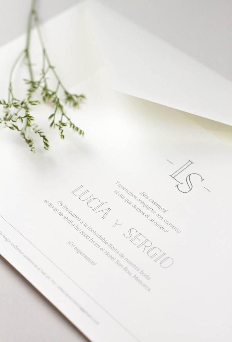 convite de casamento simples