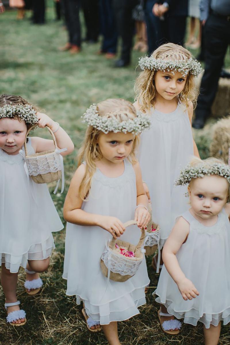 coroa de flores para daminhas