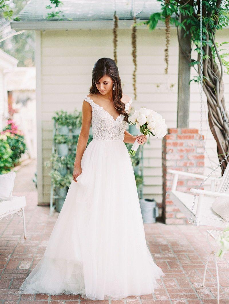 vestido-de-noiva-evase-com-tule cfe0580e53b