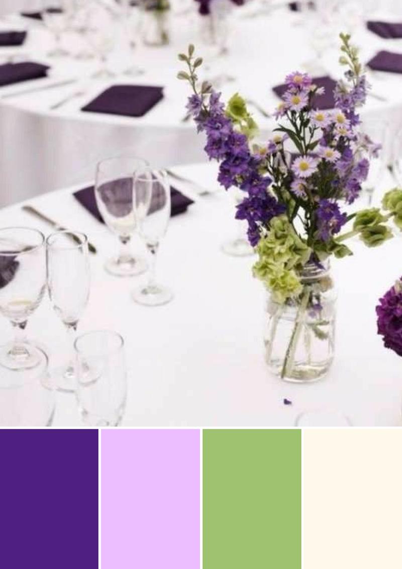 paleta de cores casamento primavera