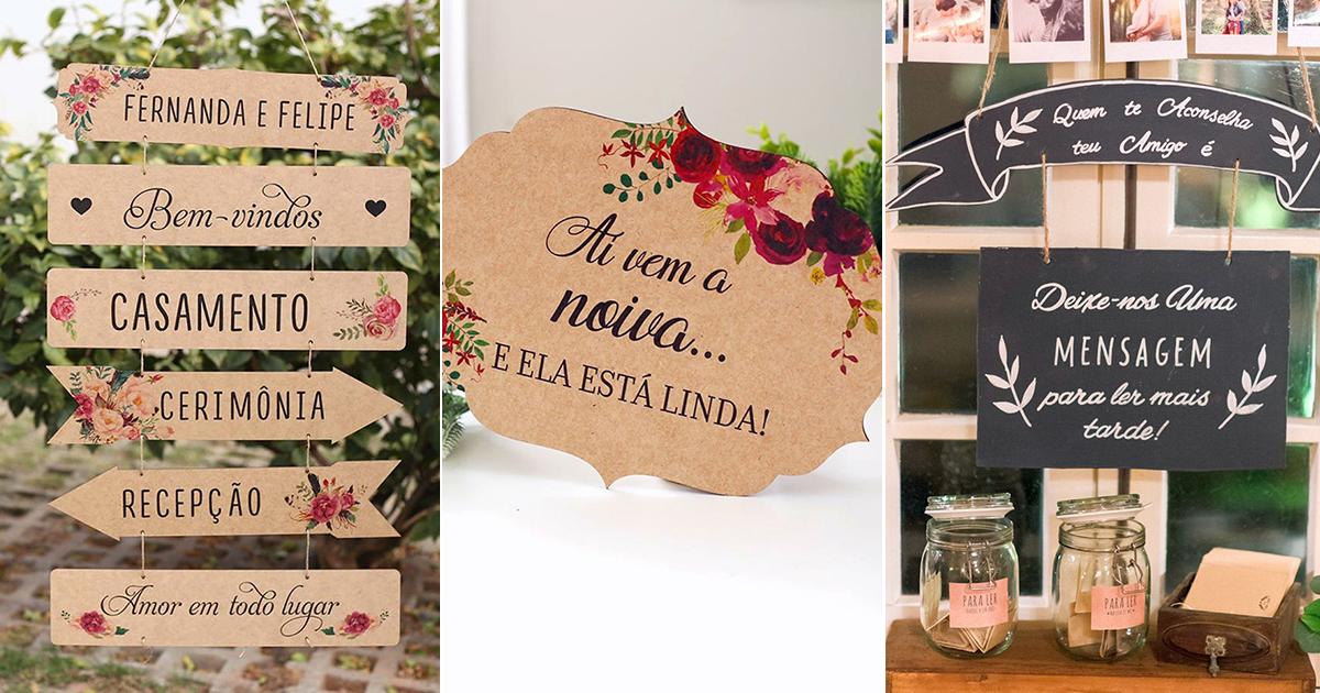 Plaquinhas Divertidas Para Casamento Da Cerimônia à Festa