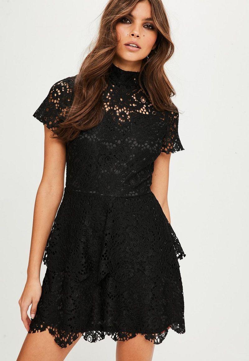 vestido-de-festa-curto-preto-com-renda
