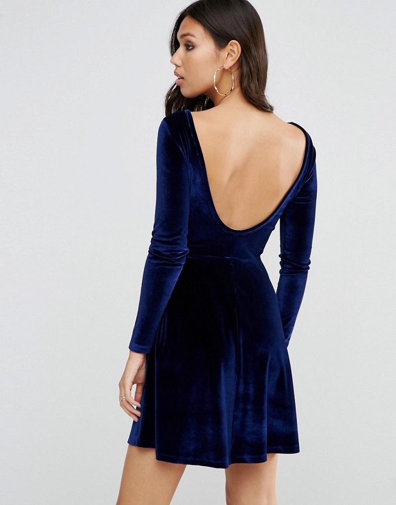 vestido-de-festa-curto-de-veludo-azul