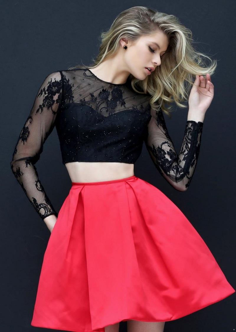 vestido-cropped-para-festa-preto-e-rosa