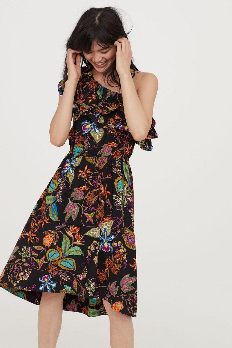 vestido-de-festa-curto-preto-estampado