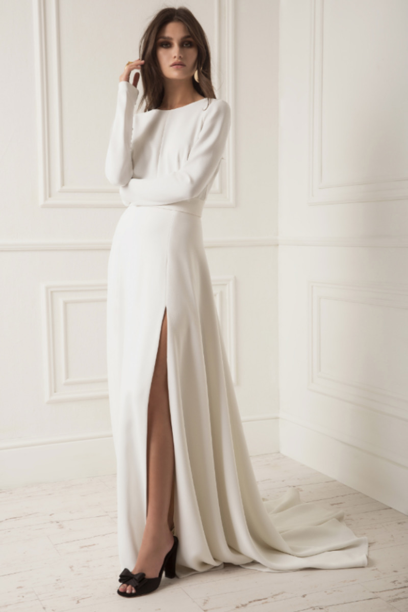 Vestido de noiva corte reto