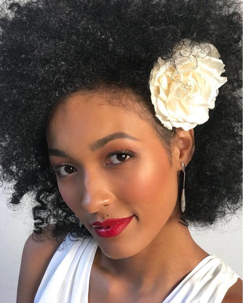 penteados para noivas negras