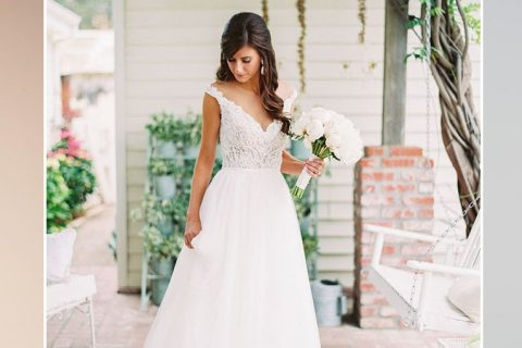 Dicas para acertar na escolha do vestido de noiva evasê