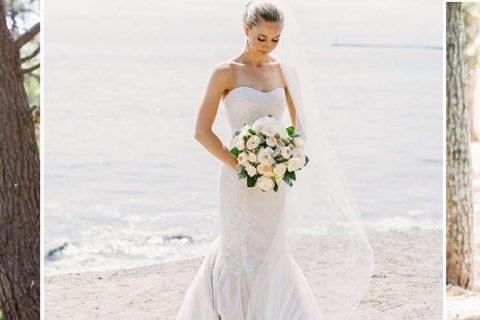 Vestido de noiva para casamento de dia tem leveza e delicadeza