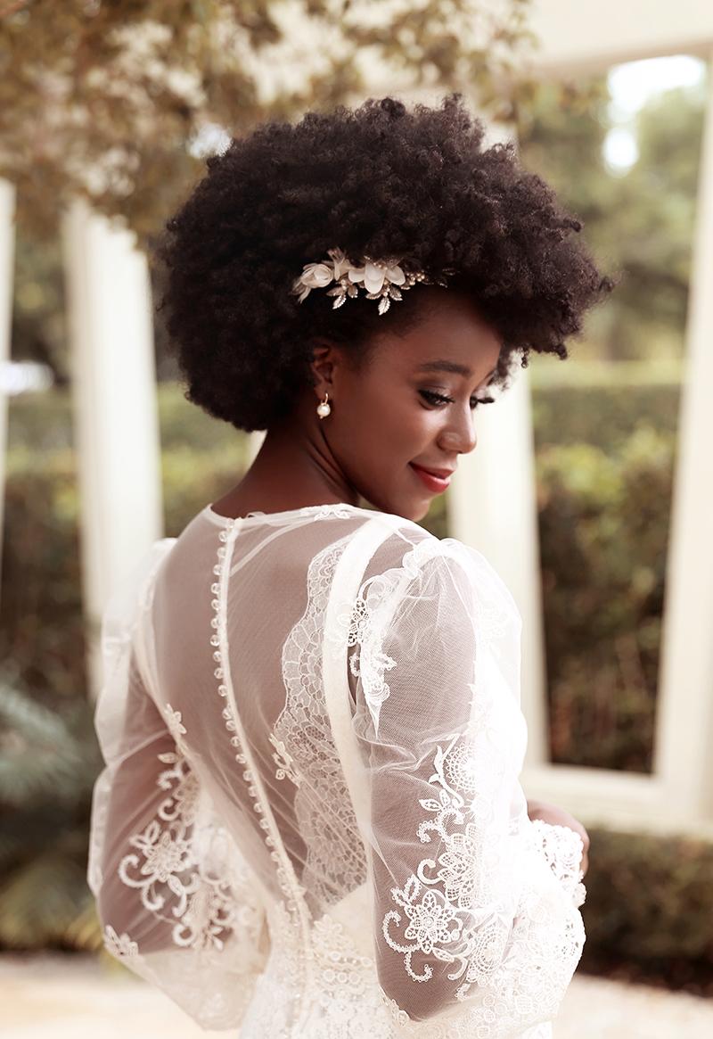 penteado para noiva negra
