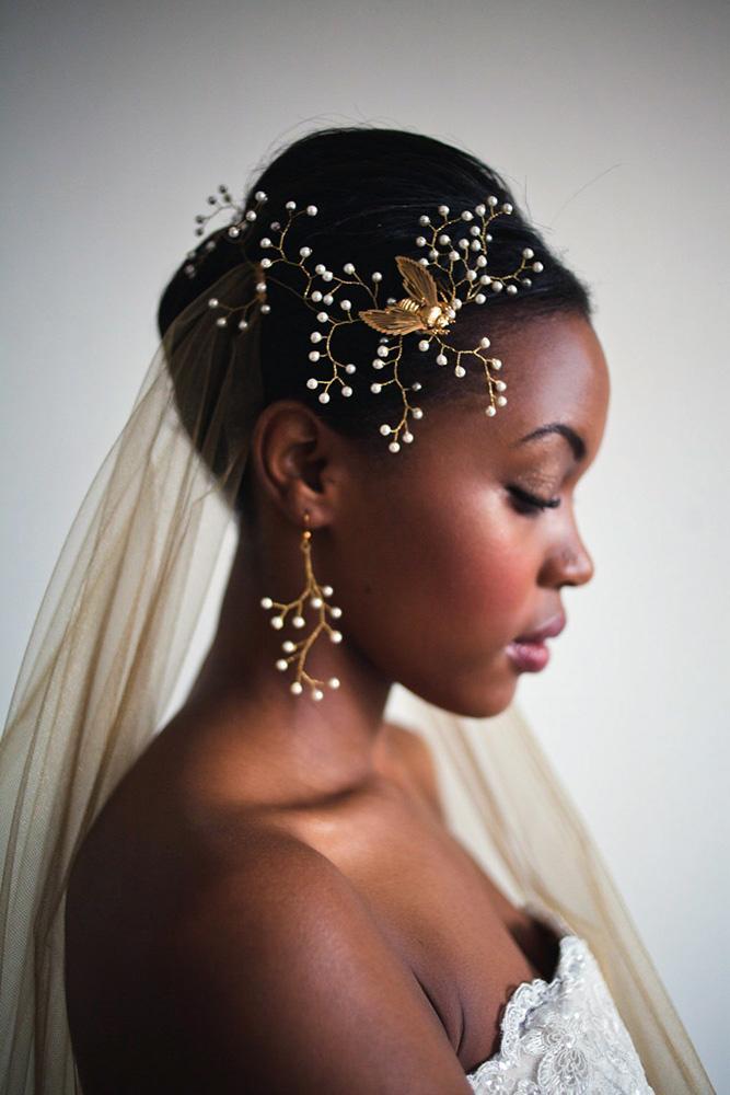 penteado para noivas negras