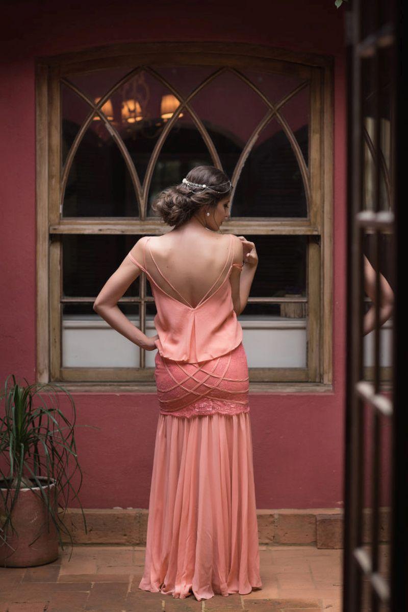 Vestido de madrinha de casamento para o verão de 2019