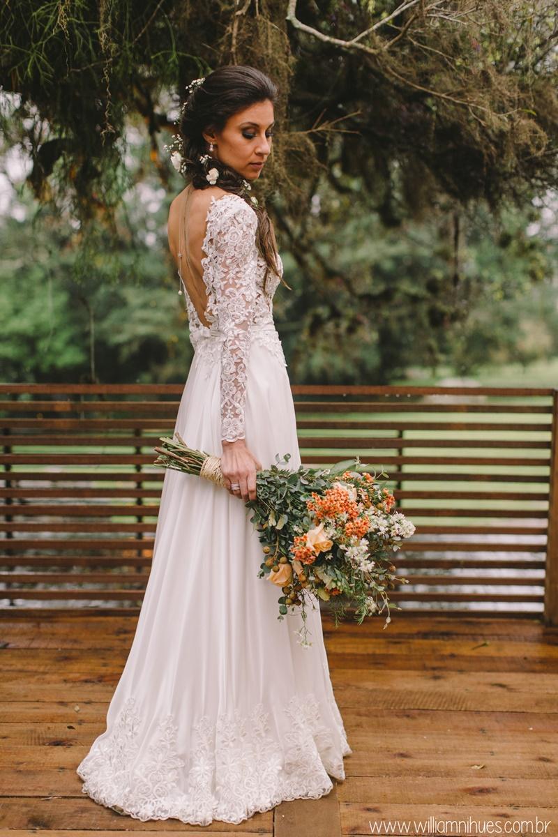 vestido de noiva vintage e boho chic