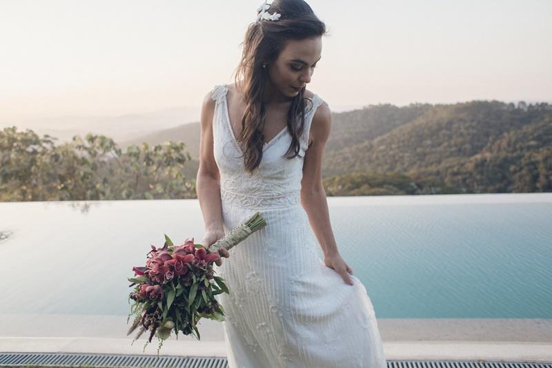 Vestido de noiva vintage boho chic