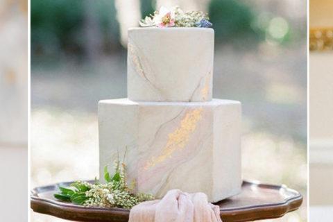 Dicas para apostar em bolo de casamento branco com efeito mármore