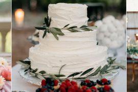 bolo de casamento rústico