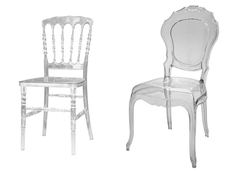 cadeiras de acrílico para casamento