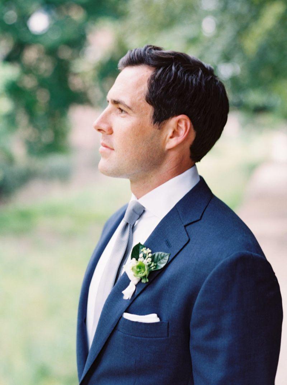 Terno do noivo azul