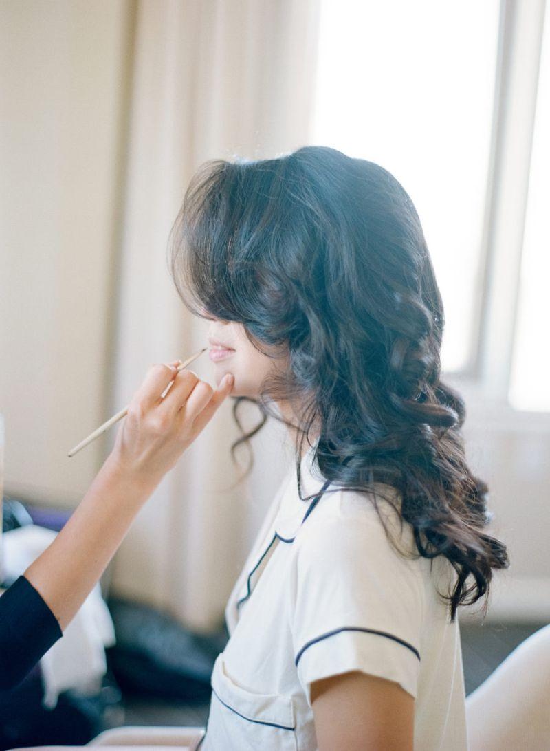 Teste de maquiagem para noiva