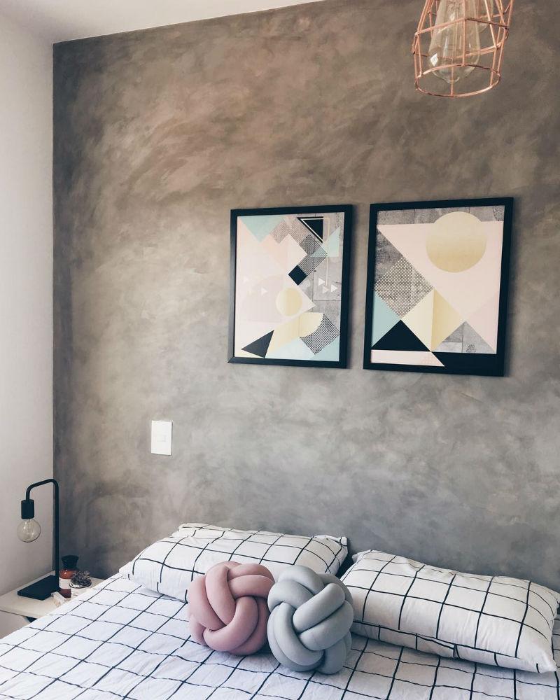 parede de cimento queimado