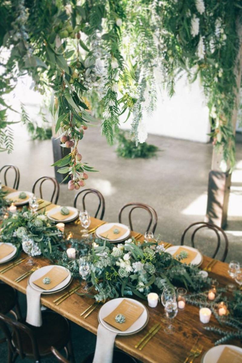 Samambaia na decoração de casamento