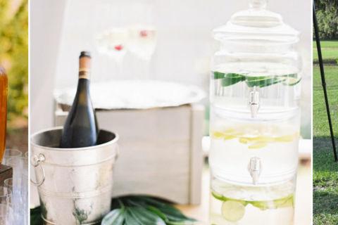 Estações de bebidas com suqueira: ideais para usar no casamento