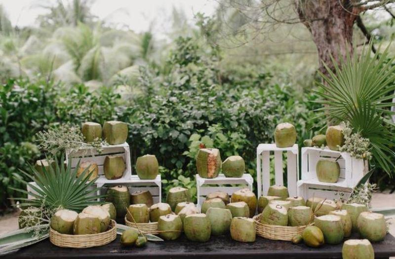 Coco na decoração do casamento