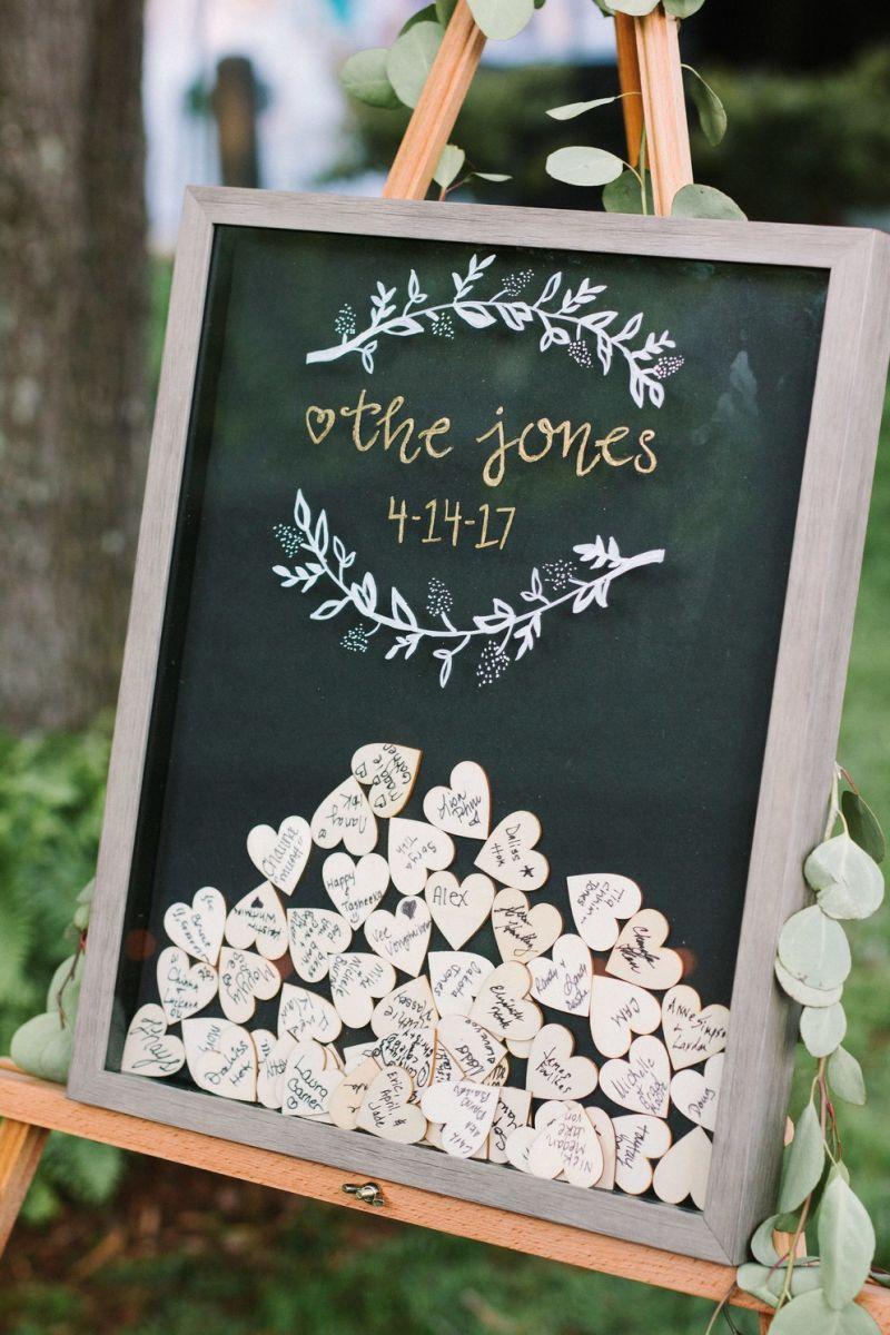 Quadro para depositar mensagens de casamento